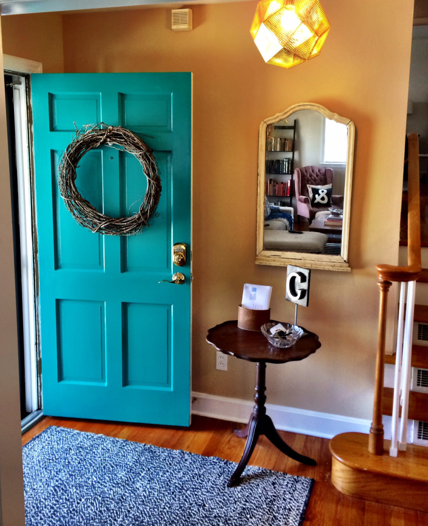 10 beautiful front door colors that will make you think for Benjamin moore turquoise colors