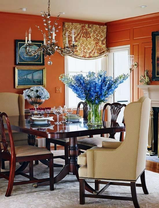 For A Room That Wants More Heat, Choose Spiced Pumpkin. This Deep Orange  Gives Public Spaces Like Dining Rooms Gravitas, While Making Private Spaces  Like ...