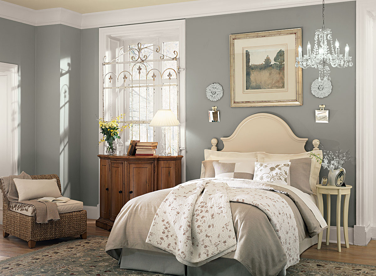 10 blissful bedrooms with color ideas you can steal - Benjamin Moore Room Color Ideas