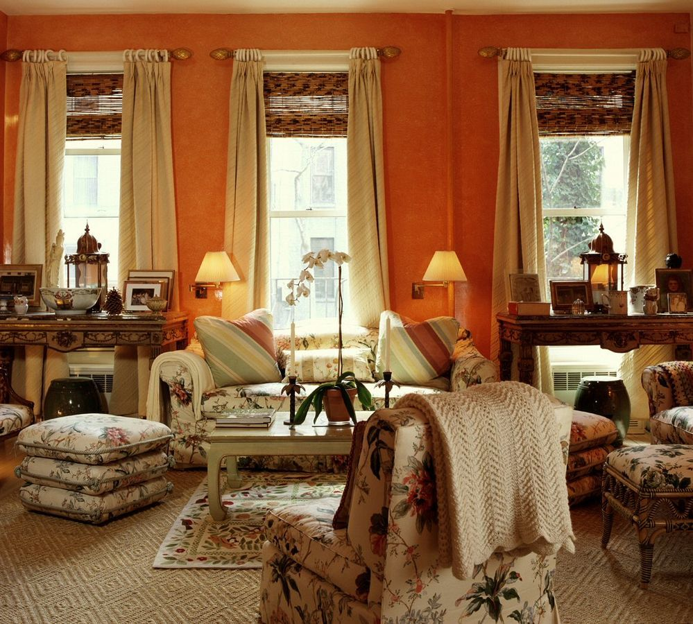Pumpkin spice rooms that will warm up your fall home and for Pumpkin spice paint living room