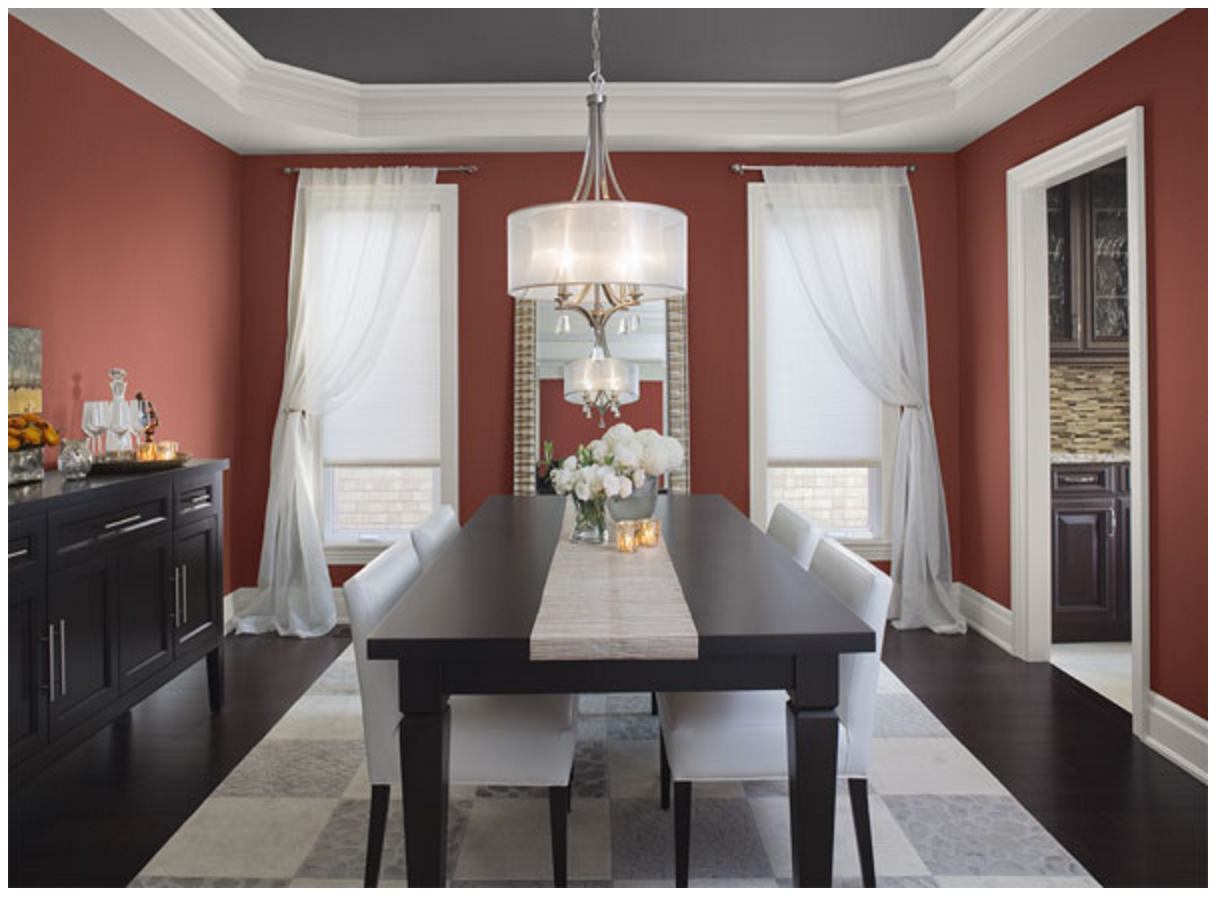 Sophisticated Color Schemes For Appetizing Dining Room
