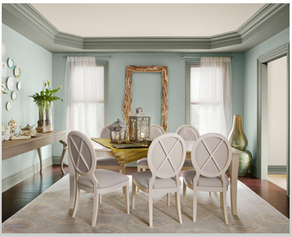 sophisticated color schemes for appetizing dining room - home and o